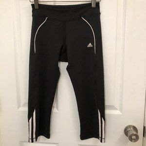 Adidas Black/White Warm Up Pants Girls